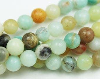 "7mm One full strand Amazonite Gemstone Strand,Round, about 60beads,hole1mm,15.5""-GEM1451"
