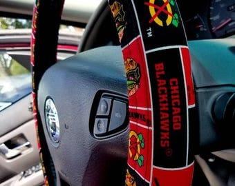 Blackhawks Steering Wheel Cover