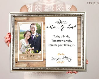 Parents Wedding Gift, Parents Thank You Gift Wedding, Gift For Parents Of The Bride, Parents Of The Groom Gift, Custom Wedding Gift