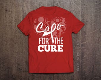 CAPOEIRA SUPPORT SHIRT: breast cancer t-shirt / leukemia / relay for life / ms / donation shirt / cure shirts / cancer society tshirt