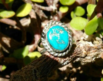 Vintage  Antique Navajo Sleeping Beauty Turquoise Ring
