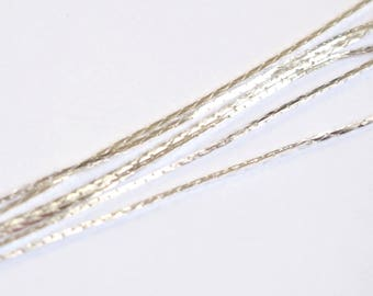 Silver plated snake chain - 50cm