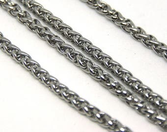 Fancy Palm mesh stainless steel chain - 50cm