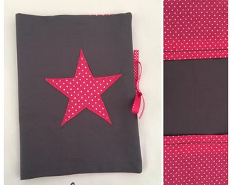 In stock: anthracite grey health with Fuchsia star book