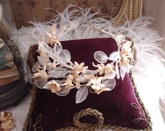 Antique bridal wreath / wax wreath France