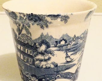 Presidential Savings Vintage Royal Staffordshire Blue Tonquin Tumbler by Clarice Cliff