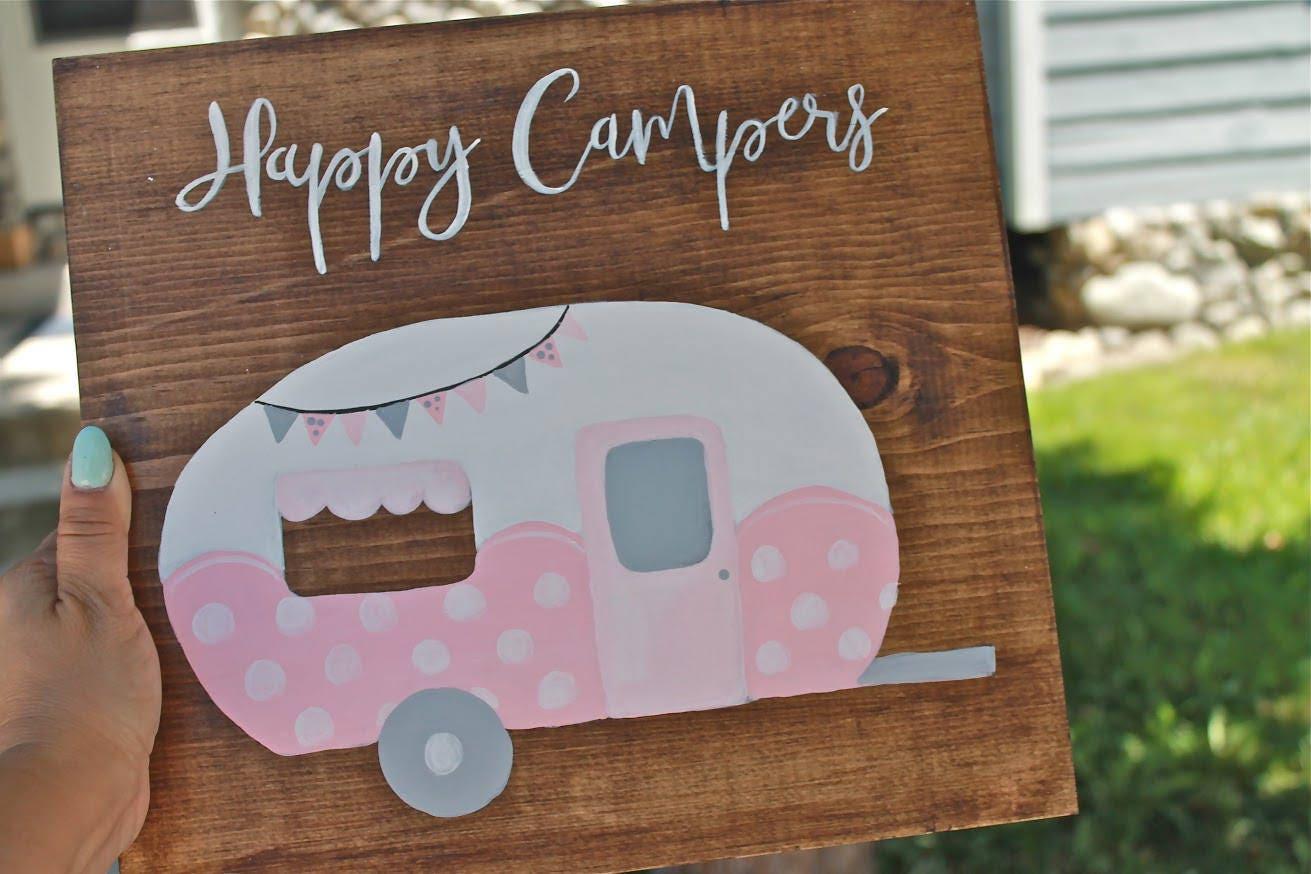 Happy Camper Wood Sign Decor