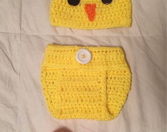 Newborn Unisex Baby Chick Outfit
