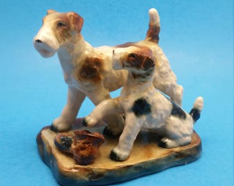 Vintage Terrier Dog Figurine
