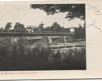 RR Bridge at Boiceville NY New York Train Vintage Postcard 1182
