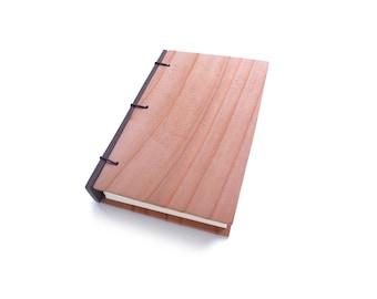 Redwood Journal Wooden Notebook Wooden Wedding Guestbook Wood Journal Engraved Notebook Wooden Sketchbook Custom Journal Travel Notebook