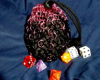 Faded Chainmail Drawstring Pouch