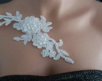 jewels of skin soft white wedding beaded lace evening gala