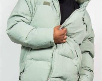 90s Fila Puffer Jacket Convertible Jacket Fila Vintage Vest Olive Green Size Large Sleevles Fila Puffer Jackey