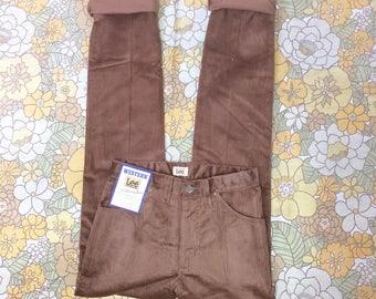 Vintage Cords, Corduroy Jeans, Cord Trousers, Corduroy Pants, 1970s Trousers, 70s Cords, Lee, Levis, Brown Cords, S