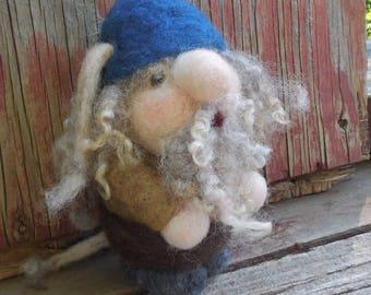 Needle Felted Troll Ornament, Mountain Troll, Scandinavian Decor, Troll Feltie, Fantasy Troll Ornament, OOAK Felt Doll