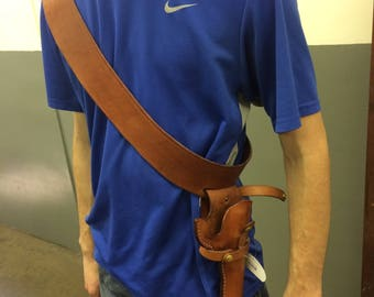 Custom Leather Shoulder Rig with Holster
