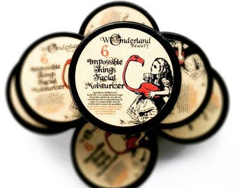 Facial Moisturizer, 6 Impossible Things Facial Moisturizer, Skin Care, Face Cream, Moisturizer, Alice in Wonderland