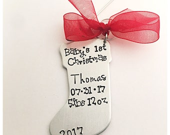 Baby's first Christmas ornament, personalized ornament, new baby gift, gift for grandchild, gift for child, child's name ornament, baby gift
