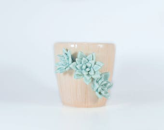 Decorative Handmade Pottery - Succulent - Decorative Pottery - Pink Cup
