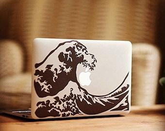 Wave hokusai by i-Sticker: decals sticker MacBook Pro Air Apple Mac laptop computer decoration