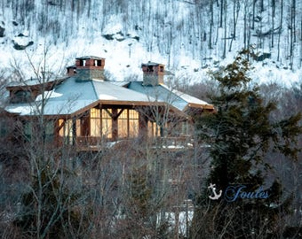 Woodland Retreat ~ Spruce Peak ~ Stowe, Vermont, Skiing, Mountain, Snowboarding, Art, Artwork, Photograph, New England, Snow, Winter Scenes