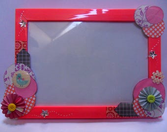 """Frame pink wrecked """"Girly POP"""" to customize"""