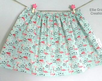 Girls skirt, Toddler Skirt, Baby Skirt, Twirl Skirt, Children's Skirt, Flamingo Skirt