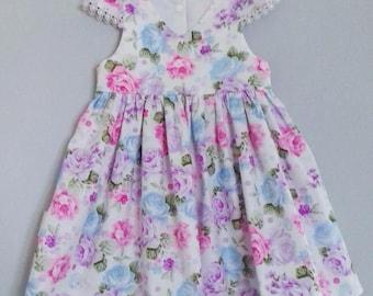 Girls Dress, Cotton Dress, Summer Dress, Floral Dress, Age 2 years