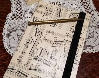 Vintage Sheet Music Journal, 1902  Sunday Morn Sheet Music, Blank Page Journal, Piano Sheet Music, Musician Gift, One of a Kind, MarjorieMae