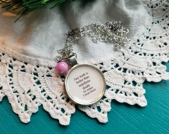 Any truth is better than indefinite doubt, Sir Arthur Conan Doyle, Sherlock Holmes, Book Nook, Book Quote Necklace, MarjorieMae