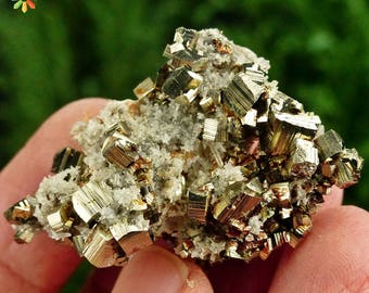 Amazing Quartz with Pyrite, Crystal, Mineral, Natural Crystal