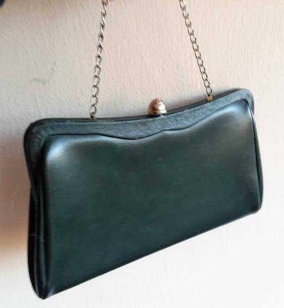 Forest Green Leather VTG Bag