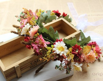 Flower Crown, Bridal Floral Crown, Floral Headband Boho-Bohemian Wedding Crown
