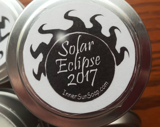 Featured listing image: Serenity candle with pure essential oils - Lavender, Cedarwood, Camphor. Solar Eclipse Swag