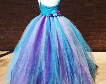 Turquoise flower girl dress, malibu blue tutu dress, flower girl tutu dress, tulle flower girl dress, turquoise dress, wedding ideas