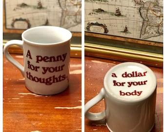 Vintage mug - funny vintage mug