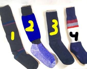 Vintage Ski Socks Unisex Winter Fashion Knee Socks Outdoor Recreation Late 80s-90's