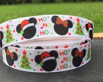 Christmas Ribbon, Santa Ribbon, Holiday Ribbon,  Minnie Ribbon, Mickey Ribbon, Ho Ho Ribbon, Christmas Bows, Christmas Embellishment