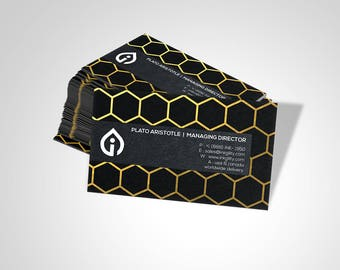 Business Cards (GOLD HEX Template)