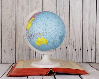 Small globe etsy vintage globe small world globe old globe home bar office decor desk gumiabroncs Images