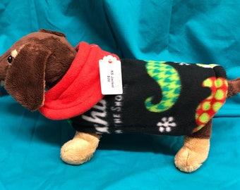 XS Dog Jacket (Christmas Mustaches)