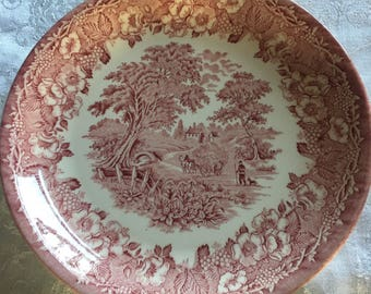 Biltons Ironstone  red plate