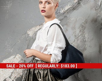 blue tote bag - canvas tote with leather handles - small canvas bag - canvas tote bag - evening handbag - small tote purse - CFS2L