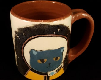 Blue Space Cat Mug