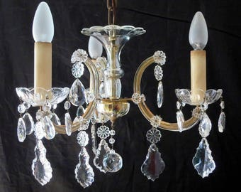 Gorgeous Crystal Chandelier from the 50s
