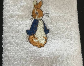 Peter Rabbit Face Cloth