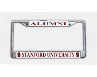 Stanford University Alumni Chrome License Plate Frame