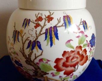 Sadler Ginger Jar. Gorgeous Floral Design. Measures 5.25inches high.