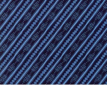 Moda BLOOMSBURY by Franny and Jane-stripe in navy-(47517 12)-by the YARD